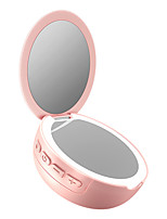 cheap -LITBest Pocket Cosmetic Gift Wireless USB Rechargeable 3X Magnifying Mini Makeup LED Light Vanity Mirror Home Bluetooth Speaker Fashion