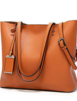 cheap -Women's Zipper PU Top Handle Bag Geometric Pattern Black / Brown / Wine