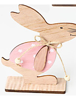 cheap -Easter bunny Decorative Objects, Plastic Modern Contemporary for Home Decoration Gifts 1pc