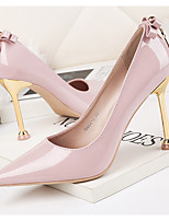 cheap -Women's Heels Stiletto Heel Pointed Toe PU Spring & Summer Black / White / Pink