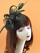 cheap -Resin Fascinators with Feather 1 Piece Wedding / Tea Party Headpiece