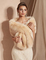 cheap -Sleeveless Shawls Faux Fur Wedding Women's Wrap With Solid