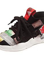 Недорогие -Девочки Удобная обувь Полиуретан Спортивная обувь Большие дети (7 лет +) Беговая обувь Розовый / Черный Зима