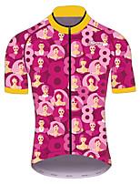 Недорогие -21Grams Муж. С короткими рукавами Велокофты Красный / желтый Велоспорт Джерси Верхняя часть Горные велосипеды Шоссейные велосипеды Устойчивость к УФ Дышащий Быстровысыхающий Виды спорта Одежда