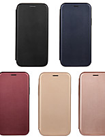 cheap -Case For Apple iPhone7/8/7P/8P/X/Xs/XR/Xs Max/ 11 / 11 Pro / 11 Pro Max Flip Full Body Cases Solid Colored PU Leather
