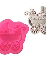 cheap -1pcs Baby Stroller Fondant Cake Decoration Silicone Mold Handmade Soap DIY