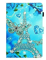 cheap -Case For Samsung Galaxy Tab A2 10.5(2018) / Samsung Tab A 10.1(2019)T510 / Samsung Tab A 8.0(2019)T290/295 Card Holder / with Stand / Flip Full Body Cases Butterfly / Eiffel Tower PU Leather