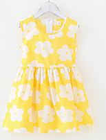 cheap -Kids Girls' Geometric Dress Yellow