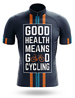 cheap -21Grams Men's Short Sleeve Cycling Jersey 100% Polyester Bule / Black National Flag Bike Jersey Top Mountain Bike MTB Road Bike Cycling UV Resistant Breathable Quick Dry Sports Clothing Apparel