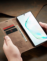cheap -CaseMe New Business Leather Magnetic Flip Case For Samsung Galaxy Note 10 / Note 10 Plus With Wallet Card Slot Stand Case Cover