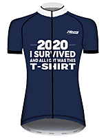 cheap -21Grams Women's Short Sleeve Cycling Jersey 100% Polyester Blue / White Novelty Bike Jersey Top Mountain Bike MTB Road Bike Cycling UV Resistant Breathable Quick Dry Sports Clothing Apparel