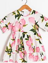 cheap -Kids Girls' Plants Dress Blushing Pink