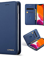 cheap -iPhone11Pro Max Simple Atmospheric Flip Wallet Leather Case Mobile Shell XS Max Shockproof Shockproof Pluggable 6/7 / 8Plus / 5s Protective Case