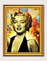 Недорогие -обрамленная печать искусства готов повесить мэрилин монро цветной плакат пс картина маслом стены спальня прикроватные люди арт-отель висят фотографии