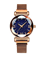 cheap -Women's Quartz Watches Flower Casual Black Blue Gold Alloy Chinese Quartz Purple Gold Blue Water Resistant / Waterproof Cute Creative 30 m 1 pc Analog One Year Battery Life / Stainless Steel