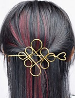 cheap -Women's Hair Sticks For Casual Outdoor Festival Alloy Silver Golden 1pc