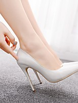 cheap -Women's Heels Stiletto Heel Pointed Toe PU Business / Minimalism Spring &  Fall / Spring & Summer White / Party & Evening