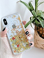 cheap -Case For Apple iPhone 11 / iPhone 11 Pro / iPhone 11 Pro Max Shockproof / Flowing Liquid / Pattern Back Cover Solid Colored / Glitter Shine PC