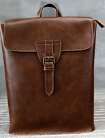 cheap -Men's Zipper PU Top Handle Bag Solid Color Brown