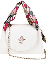 cheap -Women's Zipper PU Top Handle Bag Floral Print Black / White / Blushing Pink