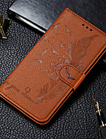 cheap -Case For Huawei Huawei P Smart Plus 2019 / Huawei Honor Play 3 / Honor 10i Wallet / Card Holder / with Stand Full Body Cases Feathers PU Leather for Huawei Mate 30 Mate 30 lite Mate 30 pro