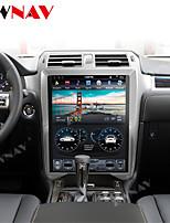 cheap -ZWNAV 15 inch 1din 4GB 64GB Android 8.1 vertical screen Tesla style Car GPS Navigation car multimedia player Car MP5 Player radio tape recorder For Lexus GX400 GX460