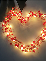 cheap -5m String Lights 50 LEDs Warm White Valentine's Day / Christmas New Design / Decorative / Holiday AA Batteries Powered