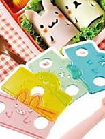 cheap -Small easter bunny animal roll rice dumpling mold set Bento sandwich roll seaweed sushi tool