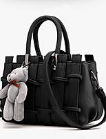 cheap -Women's Zipper PU Top Handle Bag Solid Color Blushing Pink / White / Black