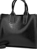 cheap -Women's Zipper PU Top Handle Bag Solid Color Wine / Green / Brown