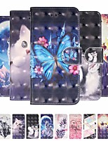 cheap -Case For Samsung Galaxy S9 / S9 Plus / A6 (2018) Wallet / Card Holder / Shockproof Full Body Cases Butterfly / Animal / Flower PU Leather