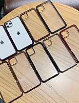 cheap -Case For Apple iPhone 11 / iPhone 11 Pro / iPhone 11 Pro Max Plating Back Cover Transparent / Solid Colored TPU