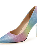 cheap -Women's Heels Stiletto Heel Pointed Toe Sequin Synthetics Classic Spring & Summer Blue / Color Block