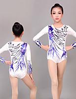 cheap -Rhythmic Gymnastics Leotards Artistic Gymnastics Leotards Women's Girls' Leotard White Spandex High Elasticity Handmade Jeweled Diamond Look Sleeveless Competition Dance Rhythmic Gymnastics Artistic