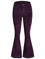 cheap -Hippie Disco Vintage Boho 1960s Pants Flowy Pants Women's Spandex Cotton Costume Purple / Green Vintage Cosplay Party