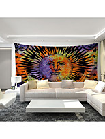 cheap -Custom Tapestry painting sun and moon suitable for bedroom living room Party activities TV background wall decoration