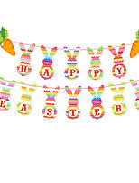cheap -Happy Easter bunny egg Holiday Decorations hanging set