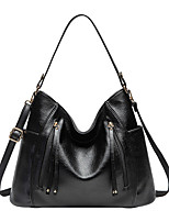 cheap -Women's Zipper Polyester / PU Top Handle Bag Solid Color Black / Brown / Gray