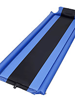 cheap -Inflatable Sleeping Pad Outdoor Camping Fast Dry Breathability Reduces Chafing Linen / Polyester Blend 190*60*3 cm for 1 person Climbing Camping / Hiking / Caving Traveling Spring Summer Dark Grey