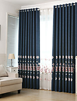 cheap -Two Panel European Classical Style Imitation Linen Thick Shading Curtains Living Room Bedroom Dining Room Curtains