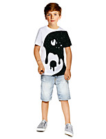 cheap -Kids Boys' Active Punk & Gothic Color Block 3D Plaid Short Sleeve Tee White