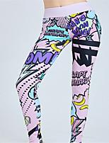cheap -Women's High Waist Yoga Pants Winter 3D Print Pink Blue Running Fitness Gym Workout Leggings Sport Activewear Quick Dry Butt Lift Tummy Control High Elasticity Skinny