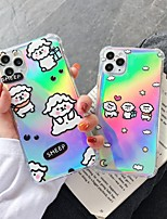 cheap -Case For Apple iPhone 11 / iPhone 11 Pro / iPhone 11 Pro Max Shockproof / Ultra-thin / Transparent Back Cover Transparent / Cartoon PC