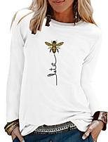 cheap -Women's Daily T-shirt - Animal Black