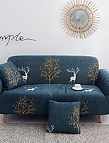 cheap -Christmas Deer Print Dustproof All-powerful Slipcovers Stretch Sofa Cover Super Soft Fabric Couch Cover with One Free Pillow Case