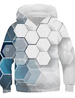 cheap -Kids Boys' Basic Street chic Geometric Color Block 3D Print Long Sleeve Hoodie & Sweatshirt White