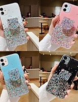 cheap -Case For Apple iPhone 11 / iPhone 11 Pro / iPhone 11 Pro Max Shockproof / with Stand / Transparent Back Cover Transparent / Animal / Glitter Shine PC
