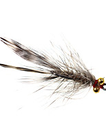cheap -4 pcs Flies Flies Sinking Bass Trout Pike Fly Fishing Freshwater Fishing General Fishing Metal