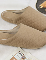 cheap -Women's Slippers & Flip-Flops Flat Heel Round Toe PU Spring & Summer Beige