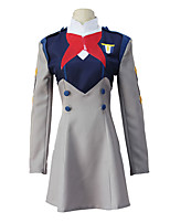 cheap -Inspired by Darling in the Franxx Ichigo Anime Cosplay Costumes Japanese Cosplay Suits Dress For Women's